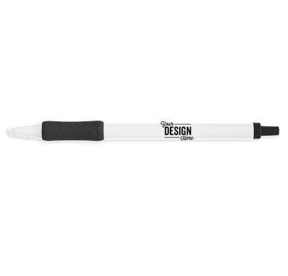 BIC Clic Stic Grip Pen (black ink) - White / Black