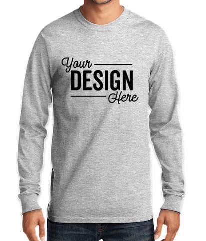 Port & Company Tall Essential Long Sleeve T-shirt - Ash
