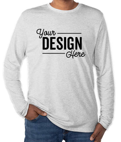 Next Level Tri-Blend Long Sleeve T-shirt - Heather White
