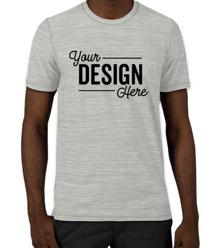 Adidas Tech Heathered Performance Shirt - Mid Grey Melange