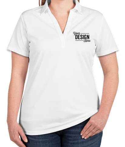 Port Authority Women's Silk Touch Performance Polo - Screen Printed - White