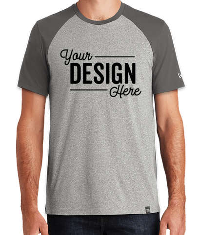New Era Heritage Blend Short Sleeve Raglan T-shirt - Graphite / Light Graphite Twist