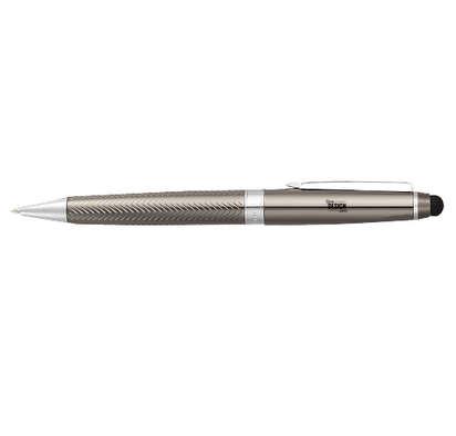 Laser Engraved Cutter & Buck Pacific Stylus Pen Set (black ink) - Graphite
