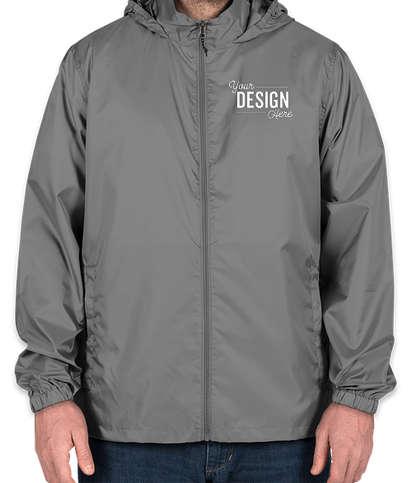 Elevate Darien Packable Lightweight Hooded Full-Zip Windbreaker - Steel Grey