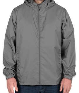Elevate Darien Packable Lightweight Hooded Full-Zip Windbreaker