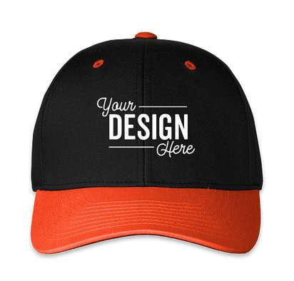 Pacific Headwear Pro-Wool Adjustable Hat - Black / Orange