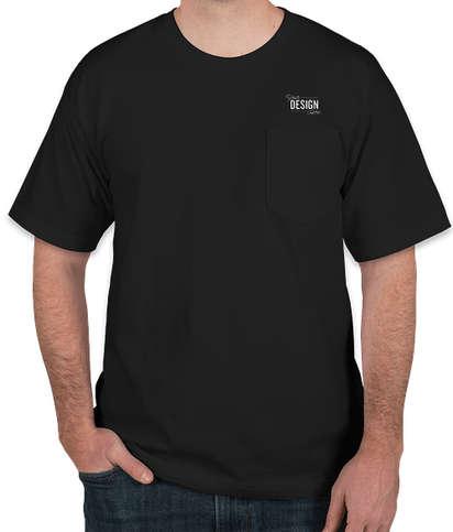 Bayside USA-Made 100% Cotton Pocket T-shirt - Black