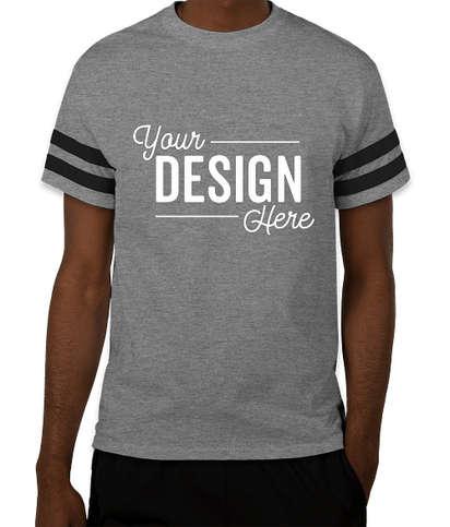 Gildan Varsity T-shirt - Graphite Heather / Black