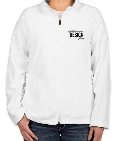 Canada - Team 365 Women's Full Zip Microfleece Jacket - White