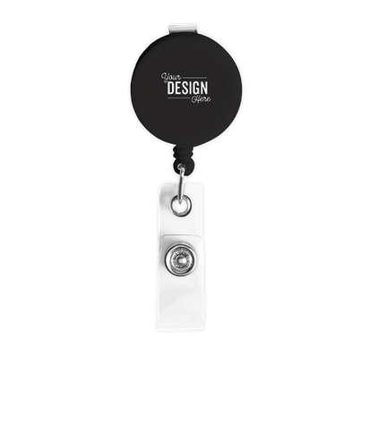 Round Badge Holder - Black