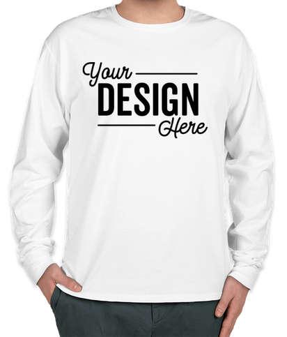 Hanes ComfortWash Garment Dyed Long Sleeve T-shirt - White