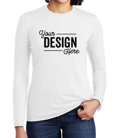 Allmade Women's Tri-Blend Long Sleeve T-shirt - Fairly White