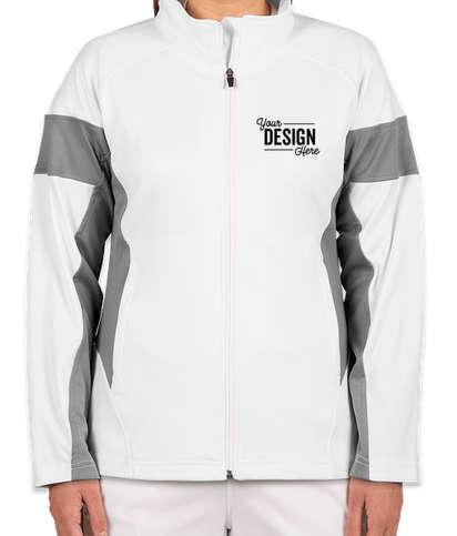 Team 365 Women's Performance Warm-Up Jacket - White / Sport Graphite