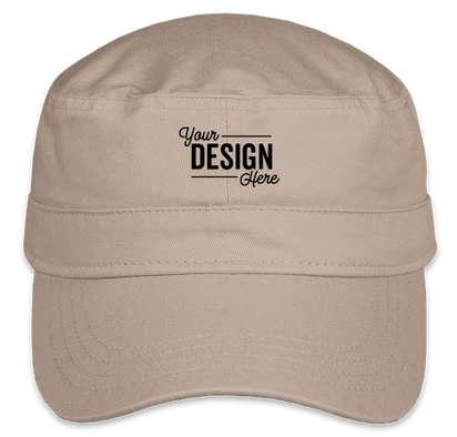 Valucap Bio-Washed Military Hat - Khaki