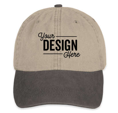 Adams Pigment Dyed Two-Toned Hat - Stone / Black