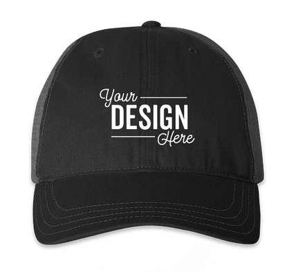 Richardson Garment Washed Trucker Hat - Black / Charcoal