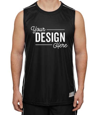 Sport-Tek Micro-Mesh Reversible Sleeveless Jersey - Black / White