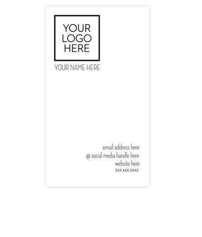 """3.5"""" x 2"""" Vertical Business Cards  - 14 pt. Cardstock - White Glossy"""