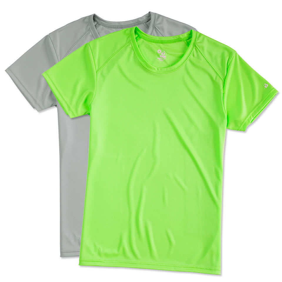 Design t shirt neon colors - Badger B Dry Ladies Performance Shirt