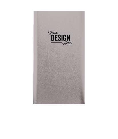 Laser Engraved Sleek Aluminum 4,000 mAh Power Bank - Gray