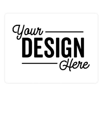 Full Color 4 in. x 3 in. Round Corner Rectangle Vinyl Decal - White