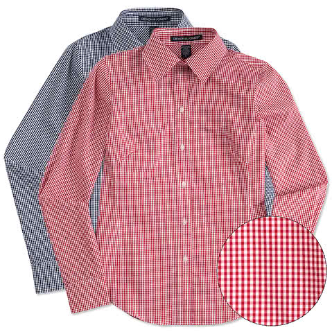 Devon & Jones Women's Gingham Dress Shirt