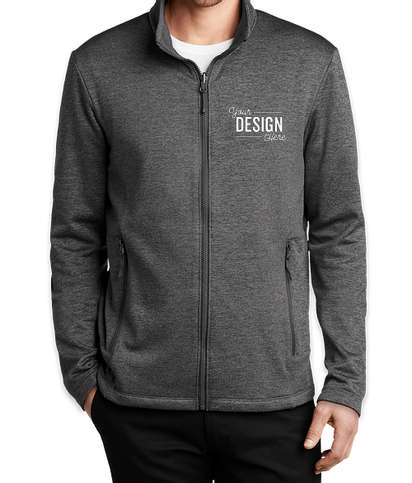 Port Authority Collective Striated Tech Fleece Jacket - Sterling Grey Heather