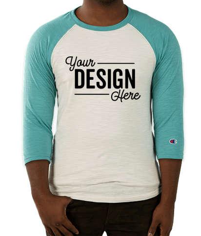 Canada - Champion Premium Fashion Raglan T-shirt - Chalk White / Bright Sage