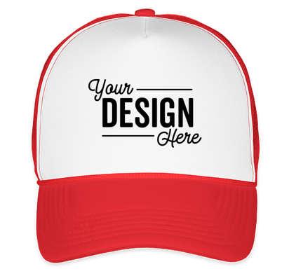 Valucap Foam/Mesh Trucker Hat - White / Red