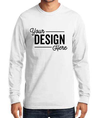 Port & Company Essential Long Sleeve T-shirt - White