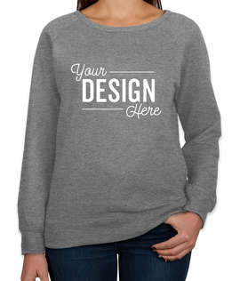 Independent Trading Women's Lightweight Crewneck Sweatshirt