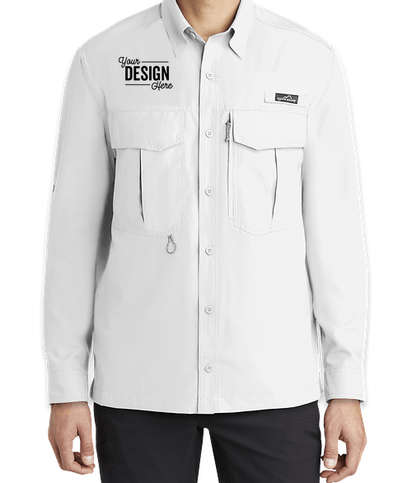 Eddie Bauer Performance Long Sleeve Fishing Shirt - White