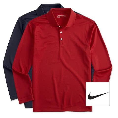 Nike Golf Dri-FIT Tech Long Sleeve Performance Polo