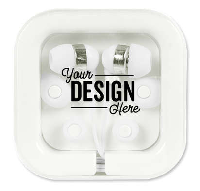 Color Pop Earbuds with Microphone - White