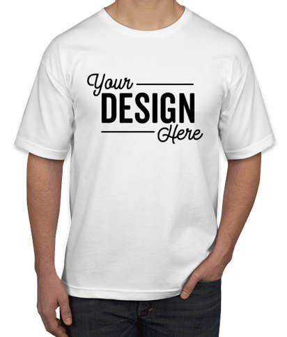 Bayside USA Union-Made 100% Cotton T-shirt - White