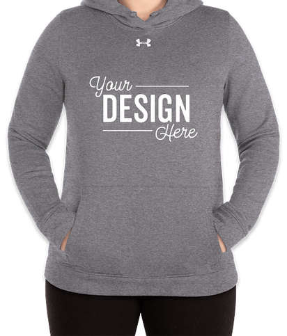Under Armour Women's Hustle Pullover Hoodie - Carbon Heather / White