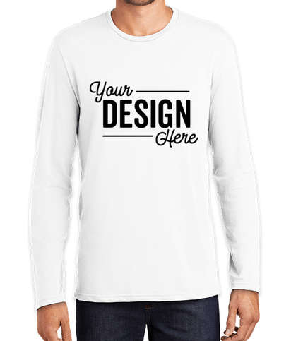 District Perfect Weight Long Sleeve T-shirt - Bright White