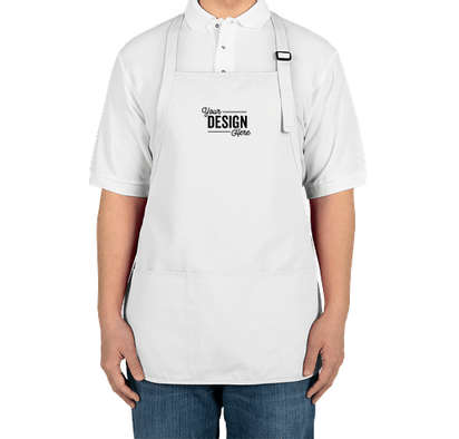 Port Authority Stain Release Medium Length Apron - Embroidered - White