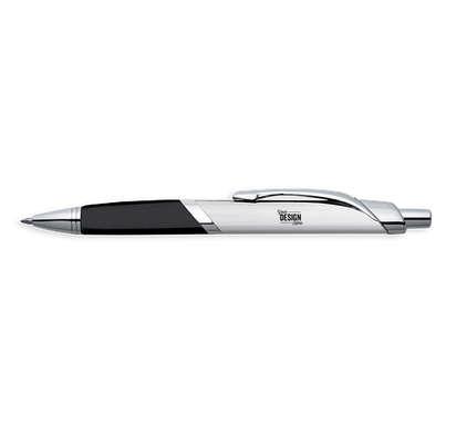 Laser Engraved SoBe Ballpoint Pen (black ink) - Silver w/ Silver Trim (Blue Ink)