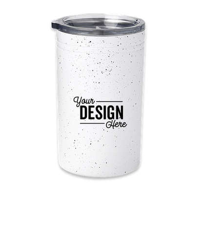 11 oz. Speckled Sherpa Tumbler and Can Insulator - White