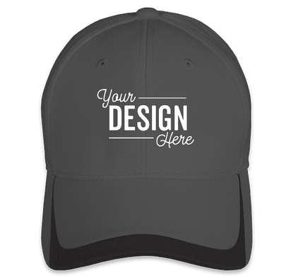 Sport-Tek Pique Contrast Performance Hat - Graphite / Black