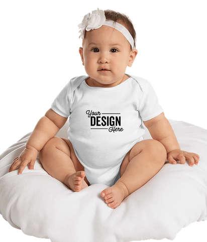 Gildan Softstyle Baby Bodysuit - White