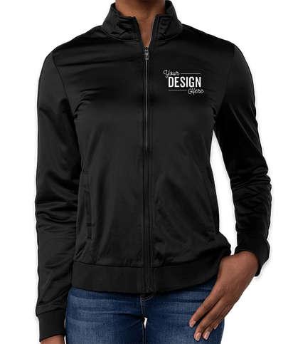 Sport-Tek Women's Tricot Track Jacket - Black / Black