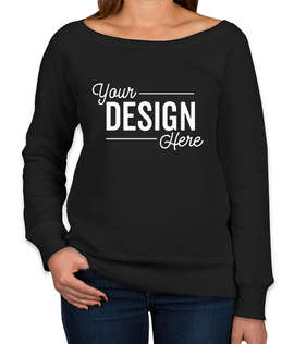 Bella + Canvas Women's Tri-Blend Wide Neck Sweatshirt