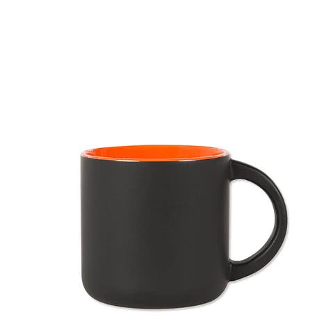 14 oz. Ceramic Two-Tone Black Minolo Mug