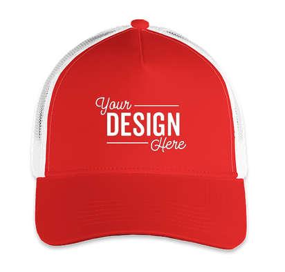 Sport-Tek Competitor Mesh Back Hat - True Red/ White