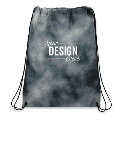 Tie-Dye Drawstring Bag - Black