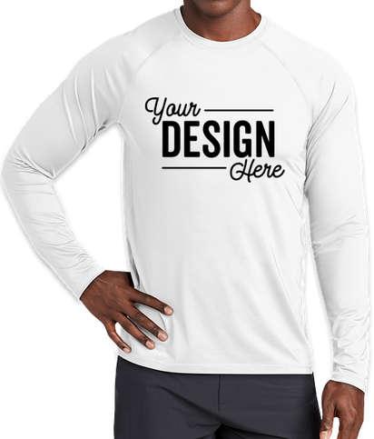 Sport-Tek Long Sleeve Rash Guard Shirt - White