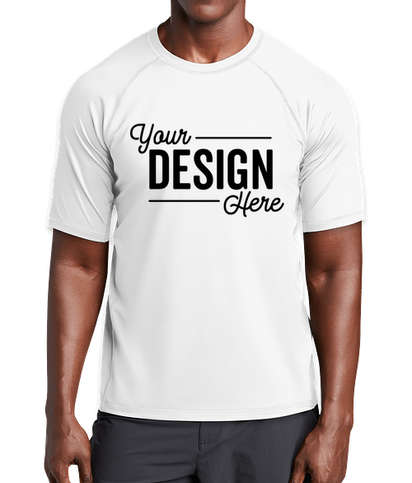 Sport-Tek Rash Guard Shirt - White