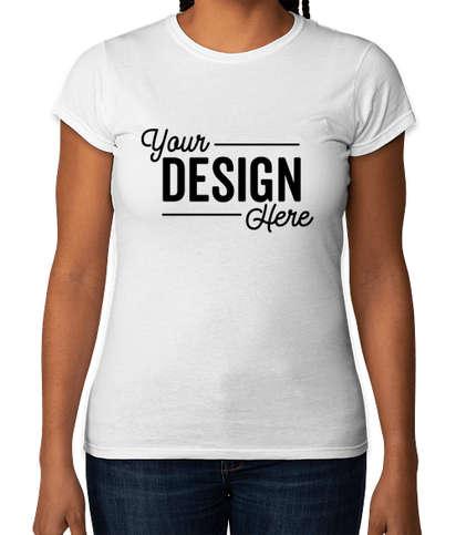 Gildan Women's Slim Fit Softstyle Jersey T-shirt - White